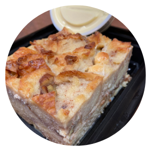 White Chocolate Pecan Bread Pudding