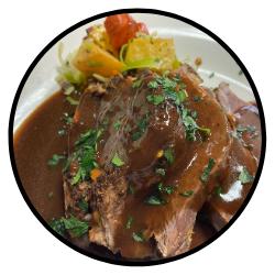 Braised Beef Brisket and Mushrooms